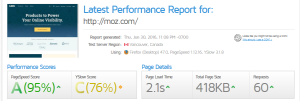 moz performance website analysis tools