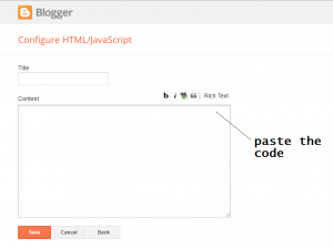 twitter widget to blogger blog-html page