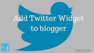 Twitter Widget to Blogger Blogs