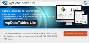 Best table plugin for wordpress