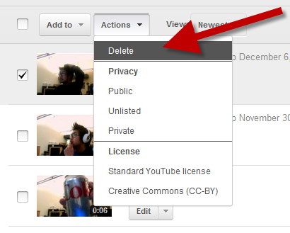 Remove unwanted videos